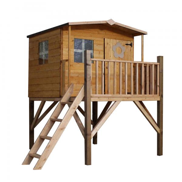 Mercia Rose Wooden Playhouse / Wendy House with Tower -13434