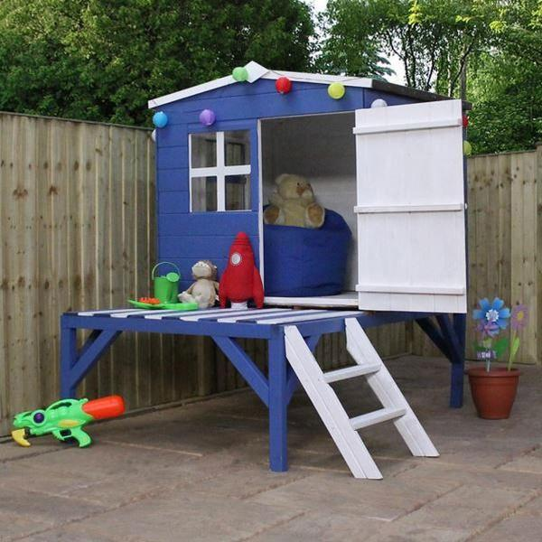 Mercia Bluebell Wooden Playhouse / Wendy House with tower-13425