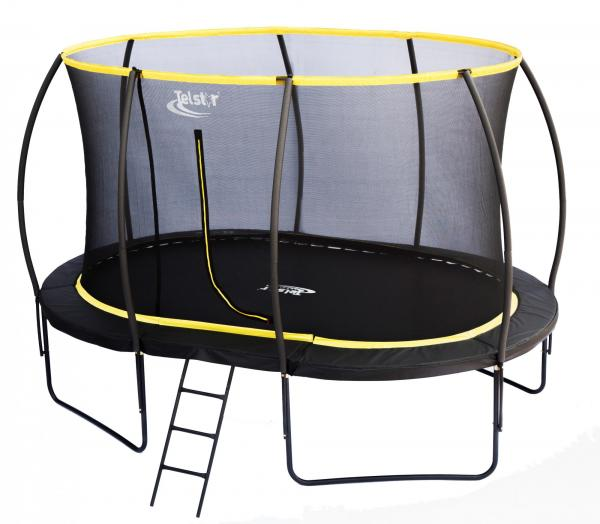 Telstar Orbit 9ft x 13ft Oval Trampoline and Enclosure Package -0