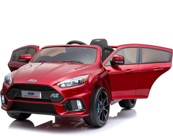 Licensed Ford Focus RS Sport 12V Battery Ride On Car - Metallic Red-13738
