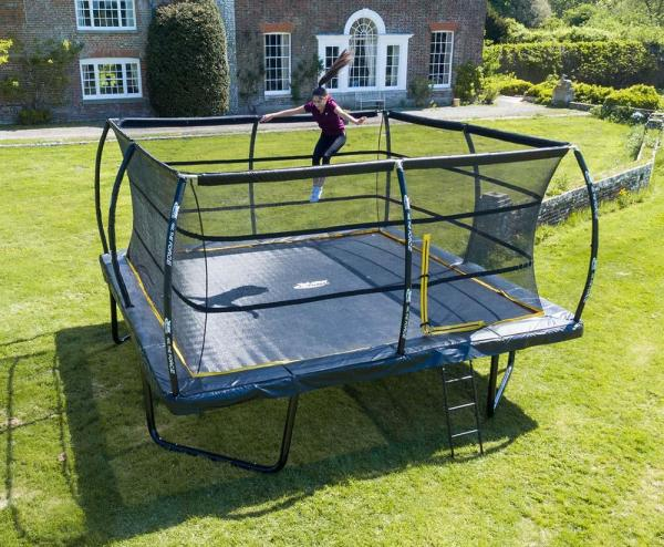 Telstar Elite 12ft x 12ft Square Trampoline and Enclosure Package with Ladder-0