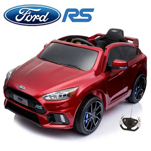 Licensed Ford Focus RS Sport 12V Battery Ride On Car - Metallic Red-0