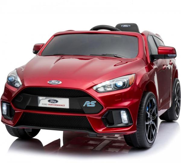 Licensed Ford Focus RS Sport 12V Battery Ride On Car - Metallic Red-13734