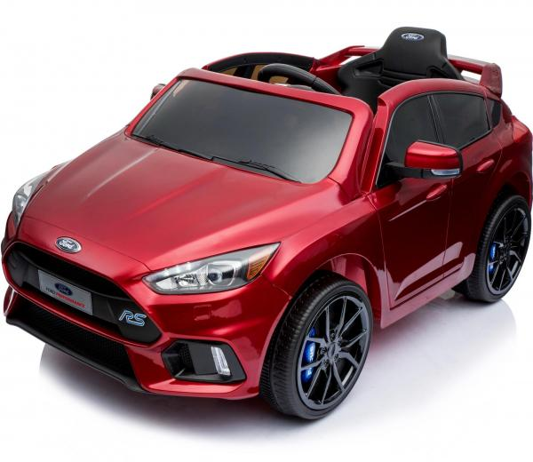 Licensed Ford Focus RS Sport 12V Battery Ride On Car - Metallic Red-13736
