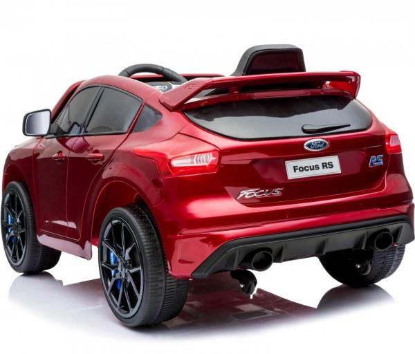Licensed Ford Focus RS Sport 12V Battery Ride On Car - Metallic Red-13733
