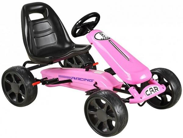 Pedal Sports Go Kart with EVA wheels - Pink-0