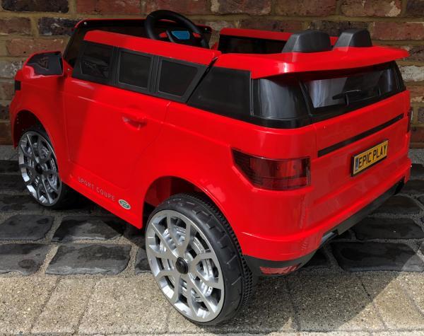 4x4 Range Rover Vogue Sport style Off Roader 12v Electric Battery Ride on Jeep - Red-14368