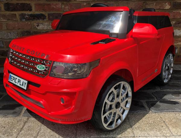 4x4 Range Rover Vogue Sport style Off Roader 12v Electric Battery Ride on Jeep - Red-0