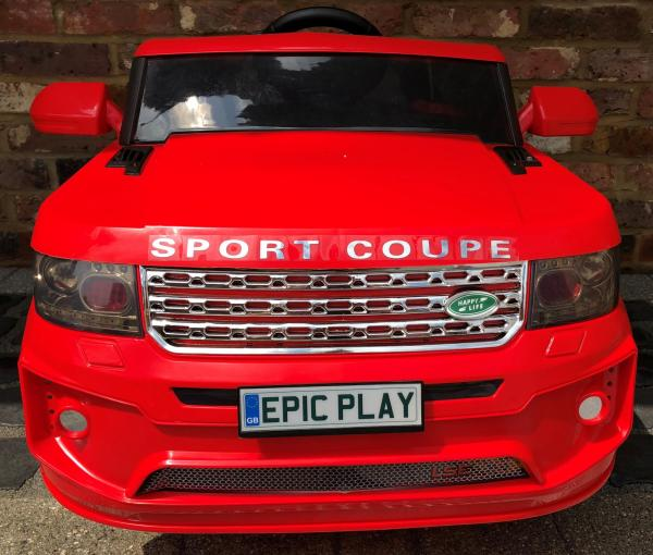 4x4 Range Rover Vogue Sport style Off Roader 12v Electric Battery Ride on Jeep - Red-14365