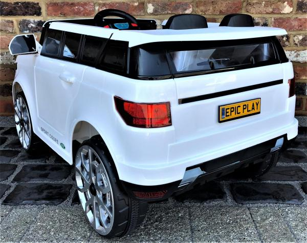 Kids Range Rover Vogue Sport Style Off Roader 4x4 12v Electric / Battery Ride On Car White-14425