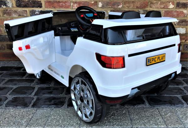 Kids Range Rover Vogue Sport Style Off Roader 4x4 12v Electric / Battery Ride On Car White-14422