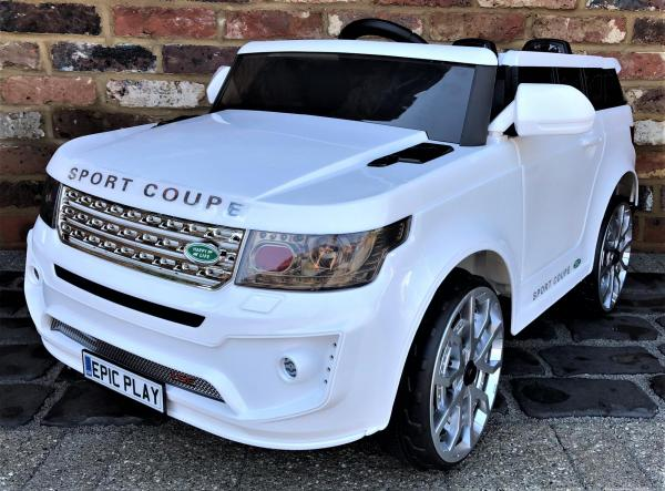 Kids Range Rover Vogue Sport Style Off Roader 4x4 12v Electric / Battery Ride On Car White-0