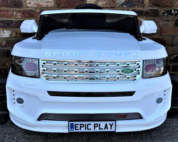 Kids Range Rover Vogue Sport Style Off Roader 4x4 12v Electric / Battery Ride On Car White-14428