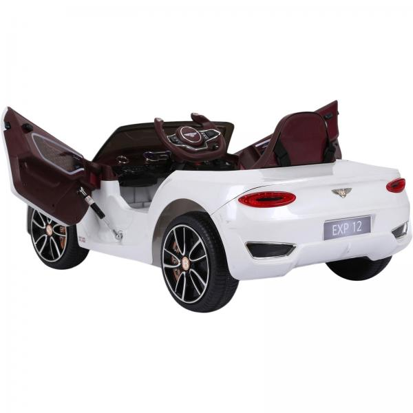 Licensed Bentley EXP12 12v Ride On Children's Battery Operated Electric Car - White-14174