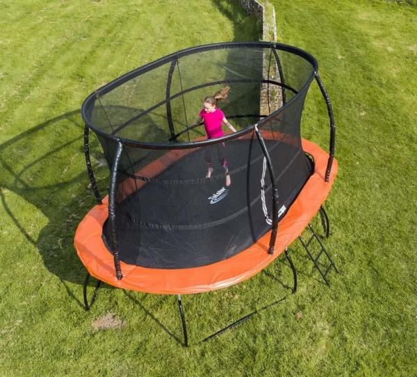 Telstar Jump Capsule Deluxe MK 3 7ft x 10ft Oval Trampoline and Enclosure Package -13956