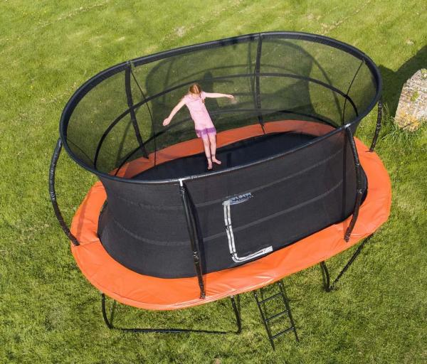 Telstar Jump Capsule Deluxe MK 3 7ft x 10ft Oval Trampoline and Enclosure Package -13953