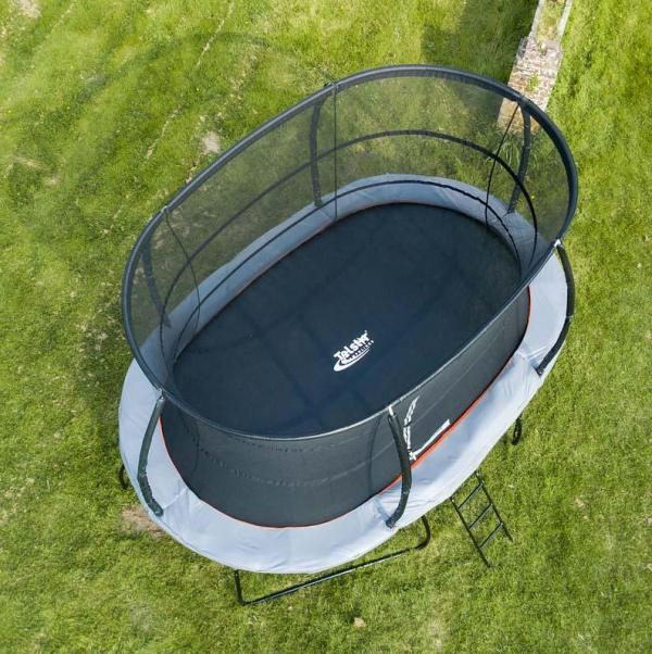 Telstar Jump Capsule Deluxe MK 3 - 9ft x 13ft Oval Trampoline and Enclosure Package -0