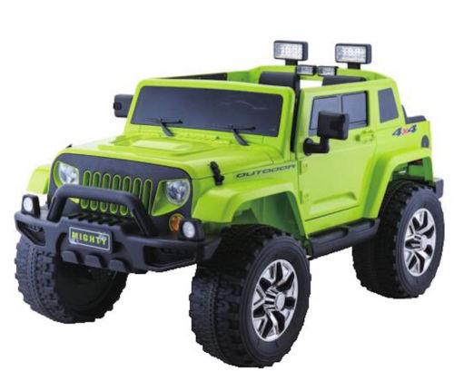 Rubicon Style 24v 4WD Children's Ride On Jeep With Parental Remote Control - Green-0