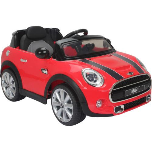 Licensed Mini Cooper S 12v Child's Electric / Battery Ride On Car - Red-0