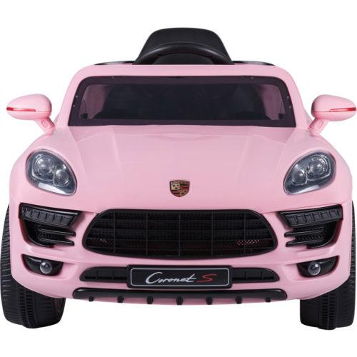 Porsche Macan Style Jeep 12v Electric / Battery Ride on Car - Pink-14275