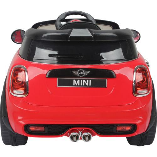 Licensed Mini Cooper S 12v Child's Electric / Battery Ride On Car - Red-14203