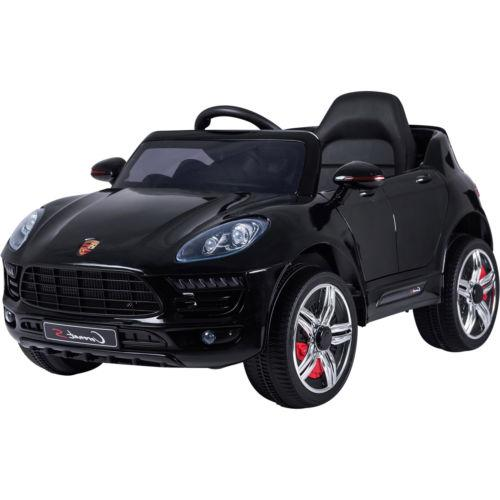 Porsche Macan Style Jeep 12v Electric / Battery Ride on Car - Black-0