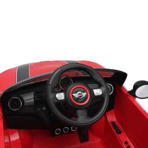 Licensed Mini Cooper S 12v Child's Electric / Battery Ride On Car - Red-14202