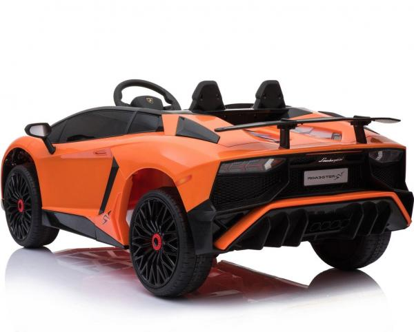 Kids Licensed Lamborghini Aventador LP750-4 SV 12v Ride on Car - Orange -14605