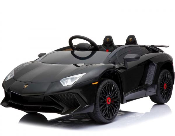 Kids Licensed Lamborghini Aventador LP750-4 SV 12v Ride on Car - Black -0
