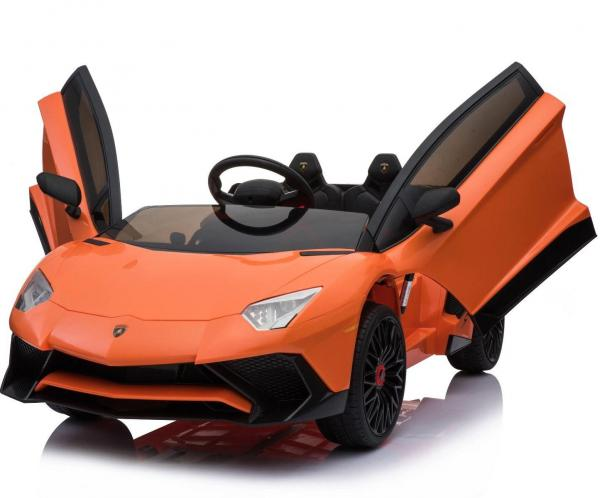 Kids Licensed Lamborghini Aventador LP750-4 SV 12v Ride on Car - Orange -14599