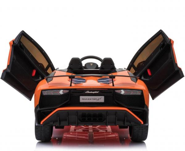 Kids Licensed Lamborghini Aventador LP750-4 SV 12v Ride on Car - Orange -14604