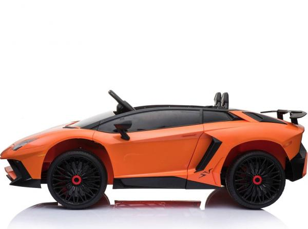 Kids Licensed Lamborghini Aventador LP750-4 SV 12v Ride on Car - Orange -14603