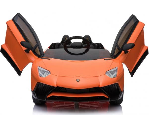 Kids Licensed Lamborghini Aventador LP750-4 SV 12v Ride on Car - Orange -14598