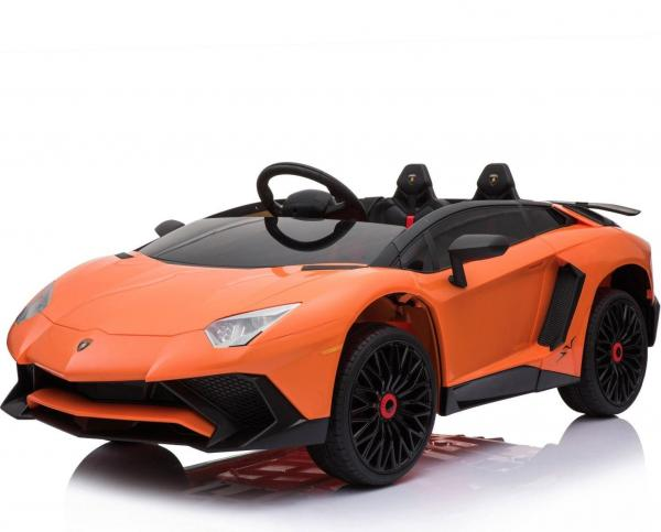 Kids Licensed Lamborghini Aventador LP750-4 SV 12v Ride on Car - Orange -0