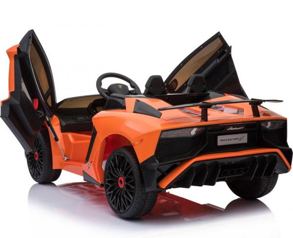 Kids Licensed Lamborghini Aventador LP750-4 SV 12v Ride on Car - Orange -14600