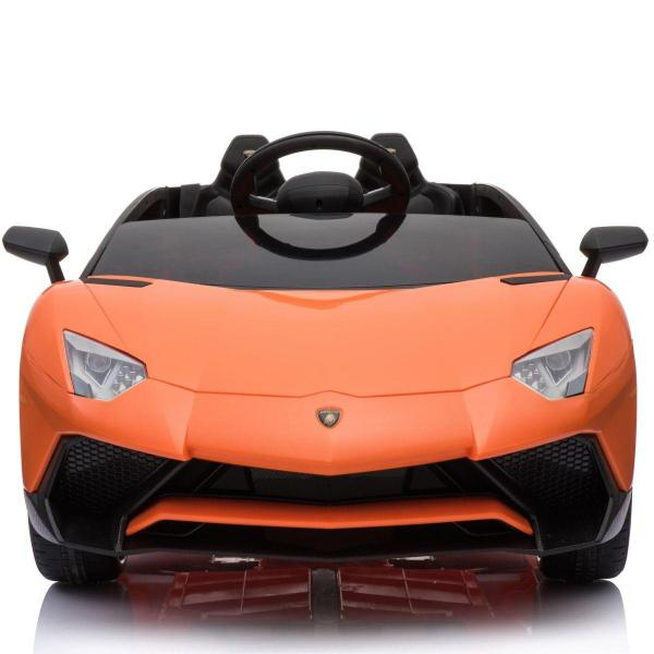 Kids Licensed Lamborghini Aventador LP750-4 SV 12v Ride on Car - Orange -14597