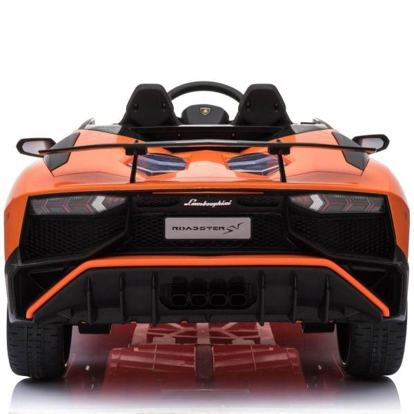 Kids Licensed Lamborghini Aventador LP750-4 SV 12v Ride on Car - Orange -14601