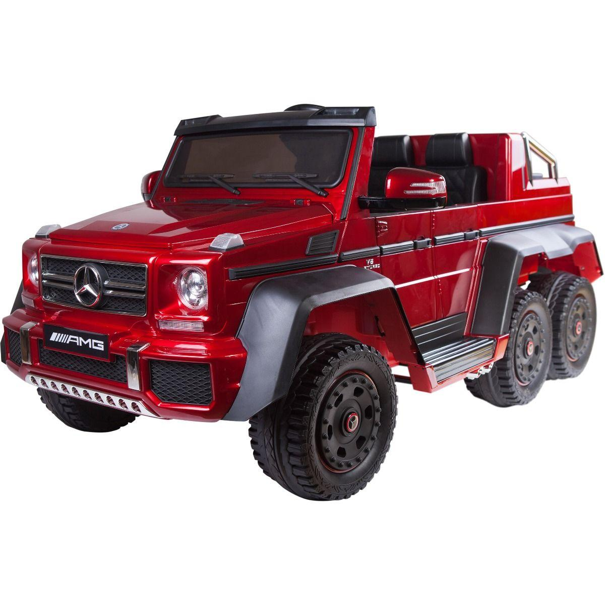 Licensed Mercedes G63 Amg G Wagon 6 X 6 Suv 12v Electric Battery Ride On Car Jeep Red