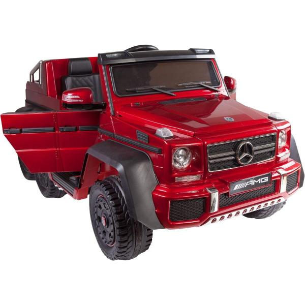 Licensed Mercedes G63 AMG G Wagon 6 x 6 SUV - 12v Electric / Battery Ride on Car Jeep Red-14677