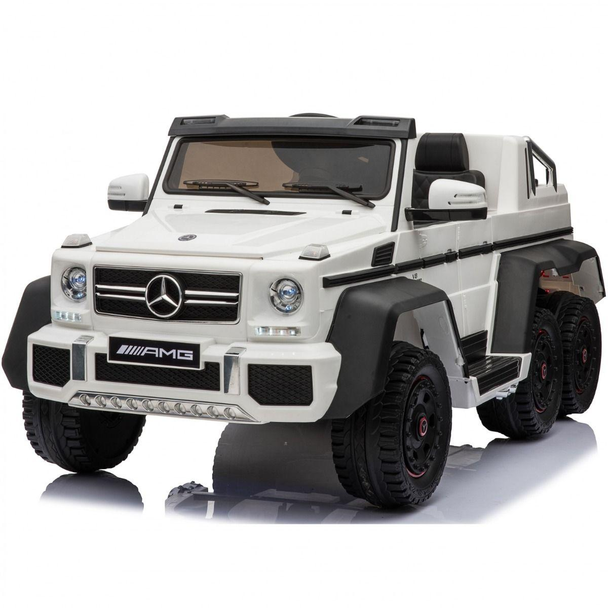 Licensed Mercedes G63 Amg G Wagon 6 X 6 Suv 12v Electric Battery Ride On Car Jeep White