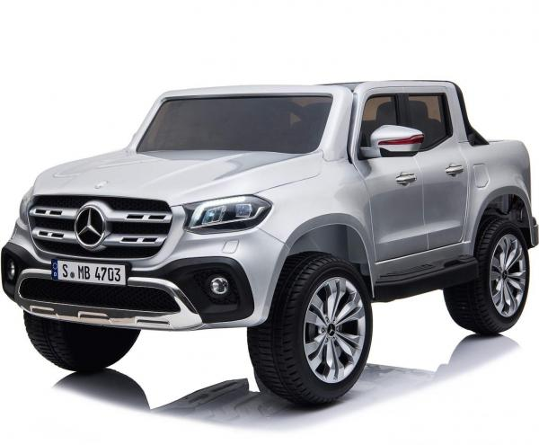 Kids Licensed Mercedes X Class Pickup - 24v 4WD Electric / Battery Ride on Car Jeep Silver-0