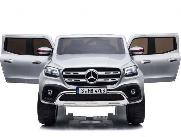 Kids Licensed Mercedes X Class Pickup - 24v 4WD Electric / Battery Ride on Car Jeep Silver-14686