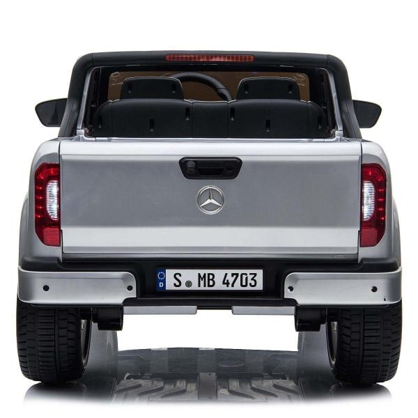 Kids Licensed Mercedes X Class Pickup - 24v 4WD Electric / Battery Ride on Car Jeep Silver-14693