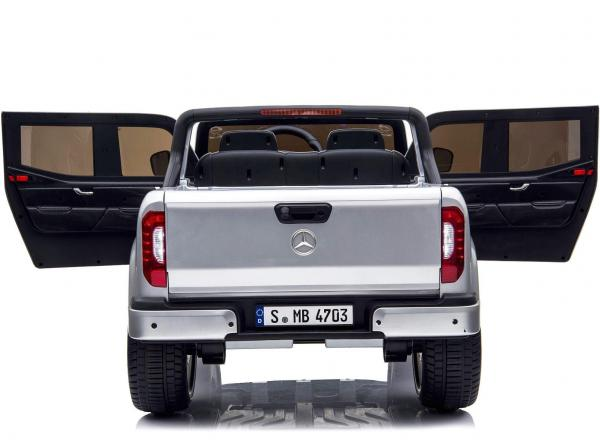 Kids Licensed Mercedes X Class Pickup - 24v 4WD Electric / Battery Ride on Car Jeep Silver-14688
