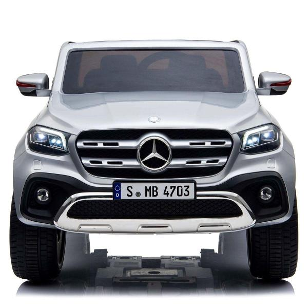Kids Licensed Mercedes X Class Pickup - 24v 4WD Electric / Battery Ride on Car Jeep Silver-14692