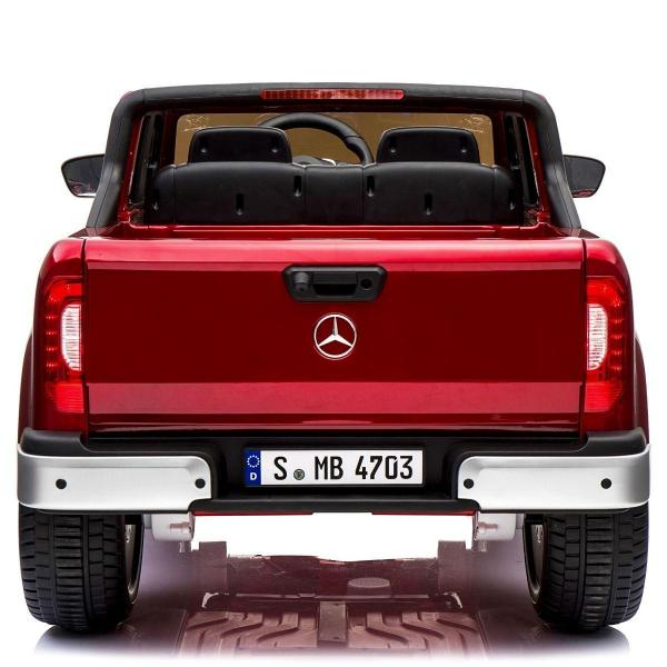 Kids Mercedes X Class Licensed Pickup Jeep - 24v 4WD Battery Ride on Car - Red-14725