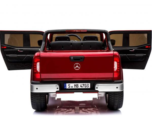 Kids Mercedes X Class Licensed Pickup Jeep - 24v 4WD Battery Ride on Car - Red-14724