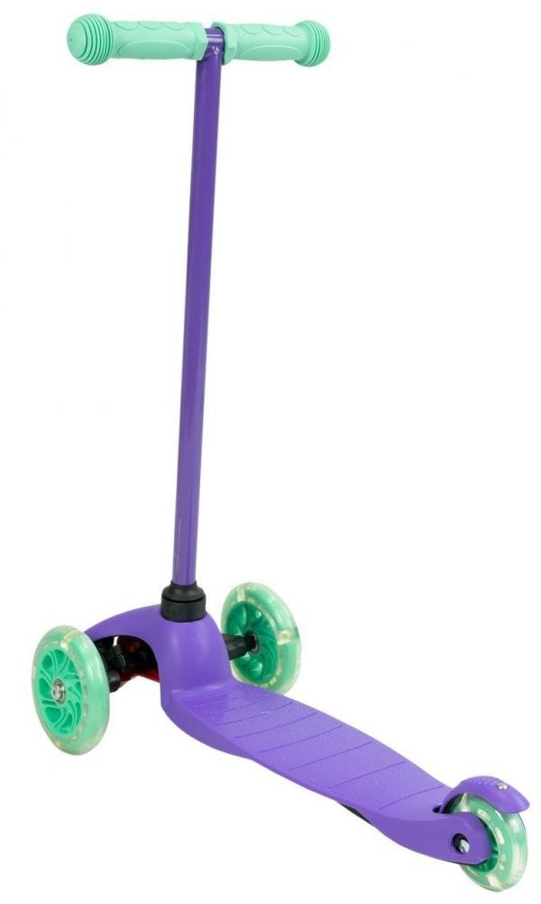 Zycom Zipper 3 Wheeled Scooter inc Light up Wheels - Purple / Teal-14812