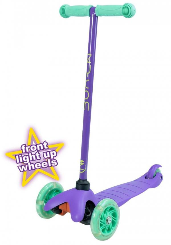 Zycom Zipper 3 Wheeled Scooter inc Light up Wheels - Purple / Teal-0