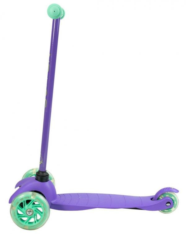Zycom Zipper 3 Wheeled Scooter inc Light up Wheels - Purple / Teal-14815